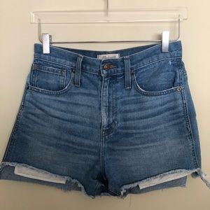Madewell Denim High Waist Mom Shorts - Size 26
